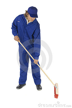 Free Sweeping Man Royalty Free Stock Photo - 3463285