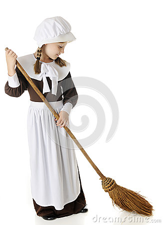 Sweeping Pilgrim Girl