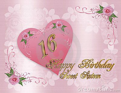 Birthday Cards Ideas Design Sweet 16 Birthday Card