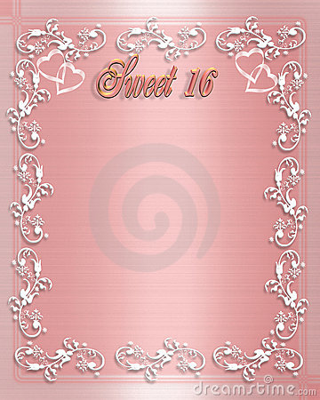 Sweet 16 Birthday invitation