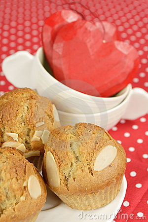 Sweet almond muffins