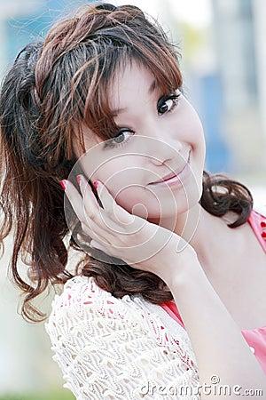 Sweet Asian girl portrait