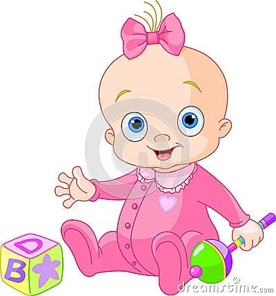 Free Sweet Baby Girl Stock Photo - 25334010