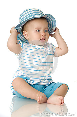 Sweet baby with hat