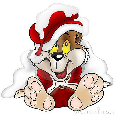 Sweet Bear as Santa Claus