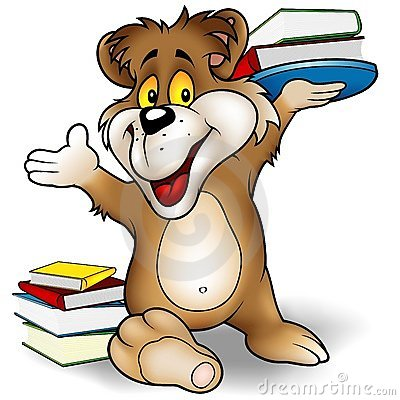 Sweet Bear And Books Royalty Free Stock Photos - Image: 4750528