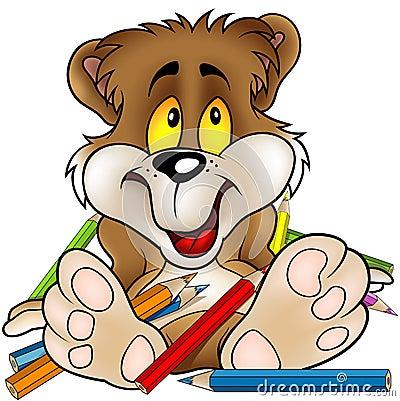 Sweet Bear and Crayons