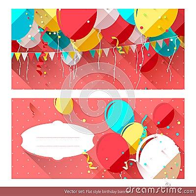 Sweet birthday banners