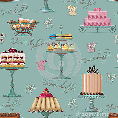 Sweet buffet background