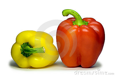 Sweet bulgarian pepper (with clipping path).