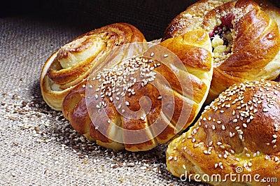 Sweet buns closeup