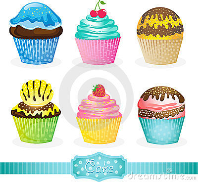Images 28 Vector Cartoon Cupcakes Birthday Cakes And Pies For Your