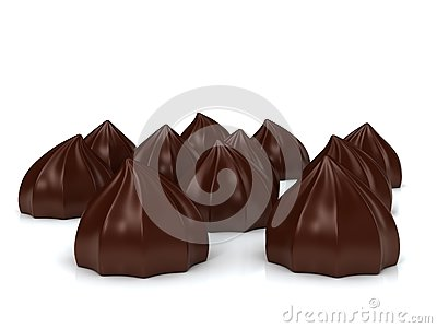 Sweet cakes over white background