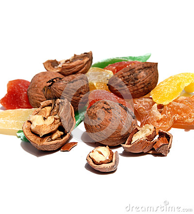 Free Sweet Candied Fruit And Nuts Stock Photo - 60859220