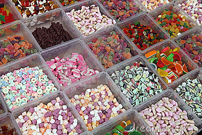 Sweet Candies in the Shop