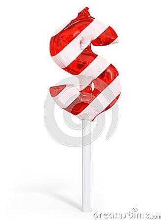 Sweet candy dollar business money symbol