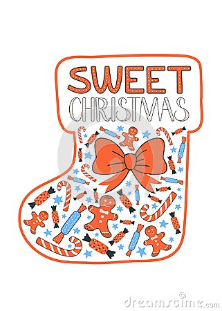Free Sweet Chrismas Greeting Card Vector Royalty Free Stock Photography - 103287917