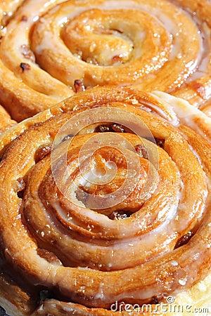 Sweet Cinnamon Raisin Buns Stock Photos - Image: 12044863