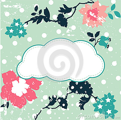 Sweet cloud text box for Your text - vector