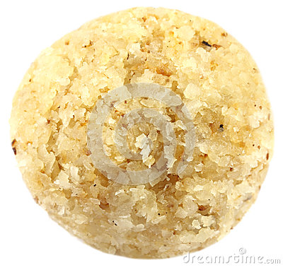 Sweet coconut ball named as Naru in Bangladesh
