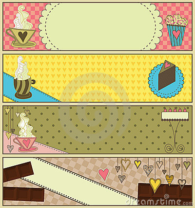 Free Sweet Coffee And Dessert Banners Stock Photo - 14984060