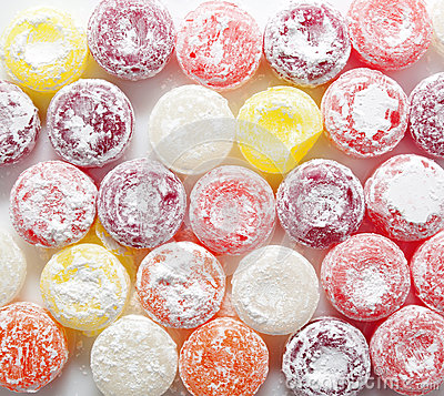 Sweet colorful candies lollipops