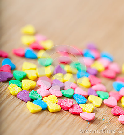 Free Sweet Colorful Candy Hearts Stock Photos - 28978753