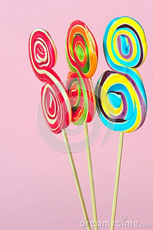 Sweet colorful lollipops
