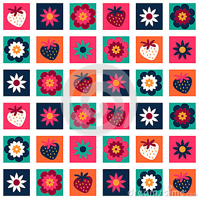 Sweet colorful seamless pattern
