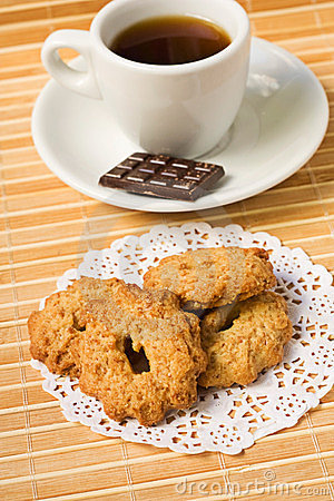Sweet cookies and coffee and chocolate.