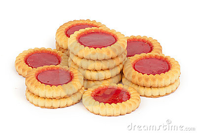 Sweet cookies with jam