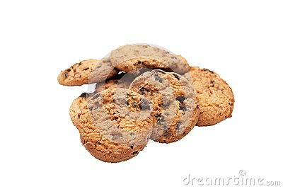 Sweet cookies with raisin
