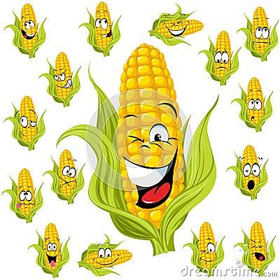 Free Sweet Corn Cartoon Royalty Free Stock Photo - 26877235