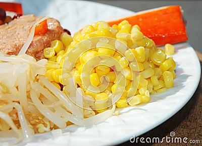 Sweet Corn kernels in Salad