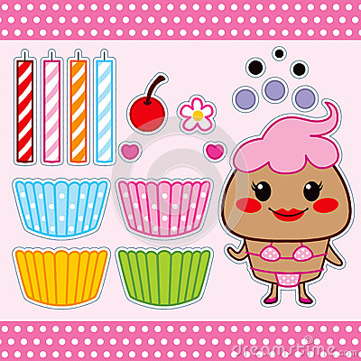 Sweet Cupcake Paper Doll
