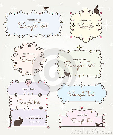 Sweet and cute frames design