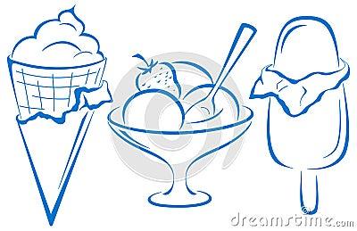 Ice-cream, set