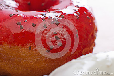 Sweet donuts close-up.