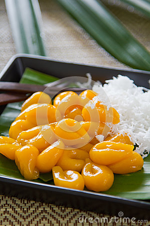 Free Sweet Dumpling With Coconut [Thai  S Sweet] Royalty Free Stock Photography - 26375007