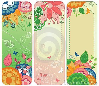 Sweet Floral Banners or Bookmarks