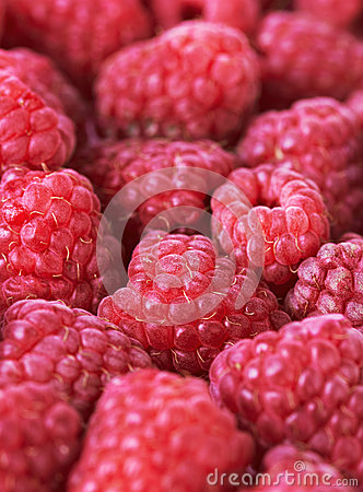 Sweet fresh raspberries