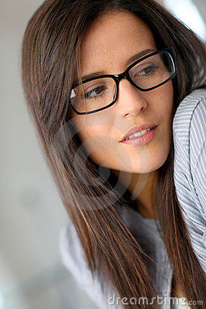 Sweet girl with eyewear