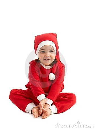 Sweet girl in santa wear