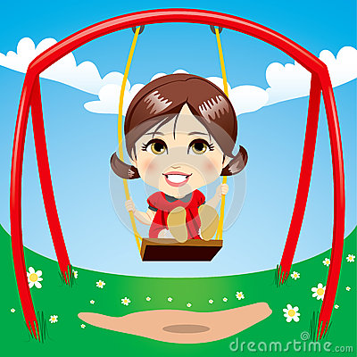 Sweet Girl Swinging