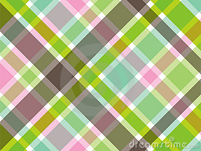 Sweet green and pink plaid