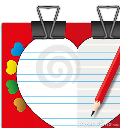 Sweet heart valentine card