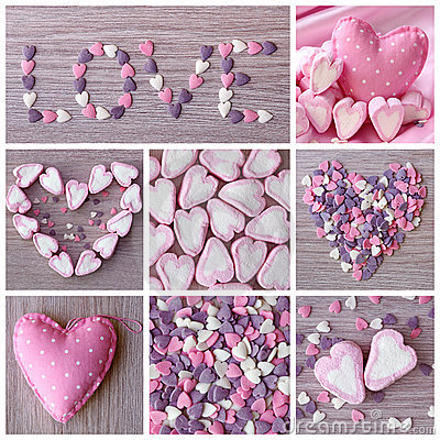 Sweet hearts collage