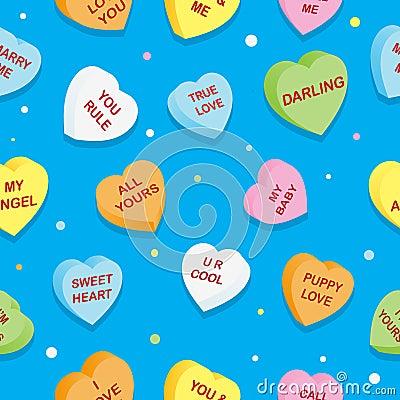 Free Sweet Hearts Pattern Royalty Free Stock Image - 22982286