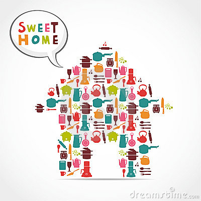 Sweet home card
