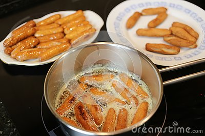 Sweet homemade fried with honey